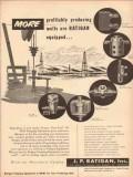 J P Ratigan Inc 1953 Vintage Ad Oil Field Profit Producing Wells