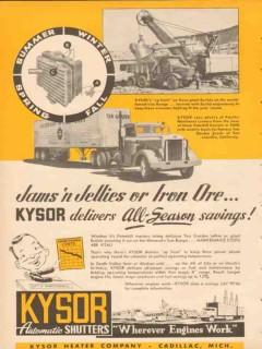 kysor heater company 1953 delivers all-season savings vintage ad