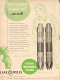 Lane-Wells Company 1953 Vintage Ad Oil Field Drillable Bridging Plugs