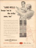 Lane-Wells Company 1953 Vintage Ad Oil Field Perforating Strike Zone