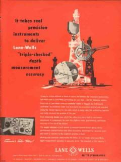 Lane-Wells Company 1953 Vintage Ad Oil Field Triple Checked Depth