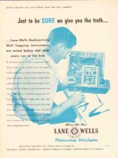 Lane-Wells Company 1953 Vintage Ad Oil Radioactivity Well Logging Sure