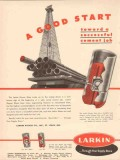 Larkin Packer Company 1953 Vintage Ad Oil Field Cement Job Good Start