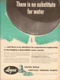 Layne Bowler Inc 1953 Vintage Ad Oil Field Water System No Substitute