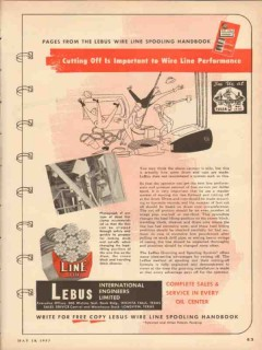 LeBus International Engineers 1953 Vintage Ad Wire Line Performance