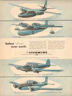lycoming 1953 safest offices over earth aero-commander vintage ad