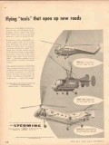 lycoming 1953 flying taxi open new roads helicopters rescue vintage ad