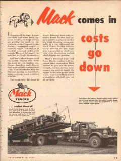 mack trucks 1953 heard rufugio tx comes in costs go down vintage ad