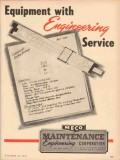 Maintenance Engineering Corp 1953 Vintage Ad MECO Equipment Service