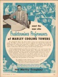 Marley Company 1953 Vintage Ad Cooling Towers Donald Baker Performance