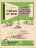 Marquette Metal Products Company 1953 Vintage Ad Hydraulic Governors