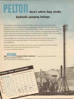 Pelton Water Wheel Company 1953 Vintage Ad Oil Long Stroke Pumping 2