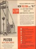 Pelton Water Wheel Company 1953 Vintage Ad Oil Pump R-1 Stripper Wells