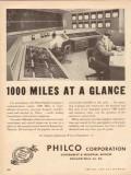 Philco Corp 1953 Vintage Ad Glance Platte Pipeline Company Microwave
