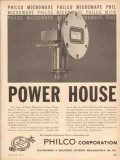 Philco Corp 1953 Vintage Ad Oil Gas Microwave Power House Klystron