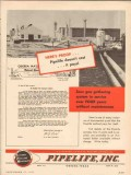 Pipelife Inc 1953 Vintage Ad Oil Proof Cost Pays Odessa W D Noel