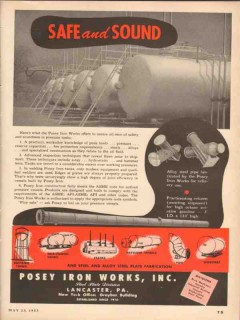 Posey Iron Works 1953 Vintage Ad Oil Alloy Steel Pipe Fabricate Safe