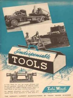 Tulsa Winch Mfg Company 1953 Vintage Ad Oil Field Indispensable Tools