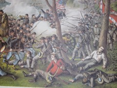kurz allison 1976 storming of fort wagner civil war lithograph print