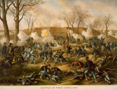 kurz allison 1976 battle of fort donelson civil war lithograph print