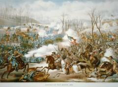 kurz allison 1976 battle of pea ridge civil war huge lithograph print