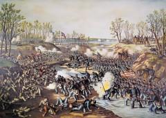 kurz allison 1976 battle of shiloh civil war huge lithograph print