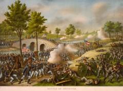 kurz allison 1976 battle of antietam civil war huge lithograph print