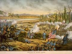 kurz allison 1976 battle of stone river civil war lithograph print