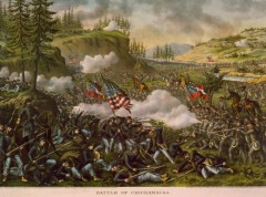 kurz allison 1976 battle of chickamauga civil war lithograph print
