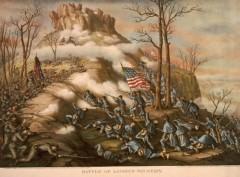 kurz allison 1976 battle lookout mountain civil war lithograph print