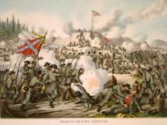 kurz allison 1976 assault of fort sanders civil war lithograph print