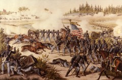 kurz allison 1976 battle of olustee civil war huge lithograph print