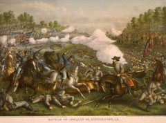 kurz allison 1976 battle of opequon civil war huge lithograph print