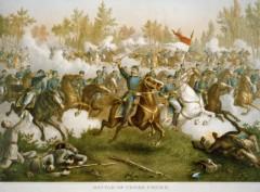 kurz allison 1976 battle of cedar creek civil war lithograph print