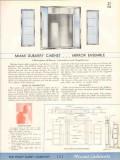 Philip Carey Company 1938 Vintage Catalog Bathroom Cabinets Miami