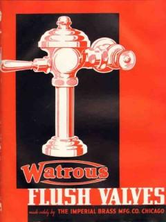 Imperial Brass Mfg Company 1938 Vintage Catalog Plumbing Flush Valves