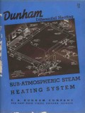 C A Dunham Company 1938 Vintage Catalog Heating System Steam