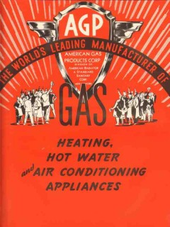 American Gas Products Corp 1938 Vintage Catalog Heating Hot Water