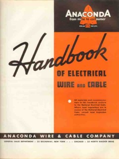 Anaconda Wire Cable Company 1938 Vintage Catalog Electrical Handbook
