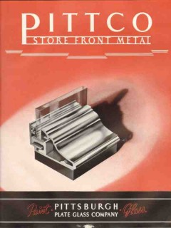 Pittsburgh Plate Glass Company 1938 Vintage Catalog Store Front Metal