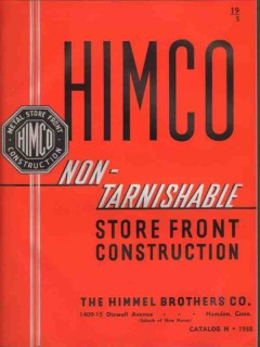 Himmel Brothers Company 1938 Vintage Catalog Store Front Construction