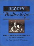 Protex Weatherstrip Mfg Company 1938 Vintage Catalog Window Blue Door
