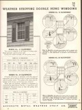 Accurate Metal Weather Strip Company 1938 Vintage Catalog Window Doors