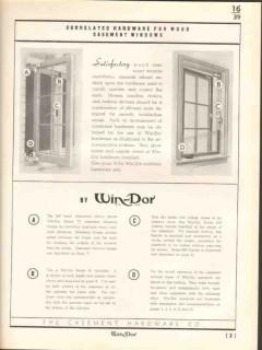 Casement Hardware Company 1938 Vintage Catalog Win-Dor Operator Hinges