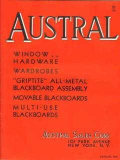 austral sales corp 1938 school windows blackboards vintage catalog