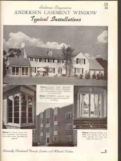 andersen corp 1938 complete window units casements vintage catalog