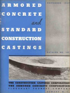 Armored Concrete Corp 1938 Vintage Catalog Construction Castings 109