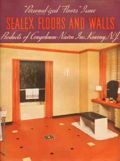 Congoleum-Nairn Inc 1938 Vintage Catalog Floors Walls Linoleum Sealex