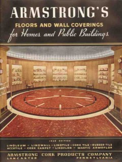 Armstrong Cork Products Company 1938 Vintage Catalog Floors Wall Cover