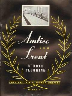American Tile Rubber Company 1938 Vintage Catalog Floor Amtico Trent